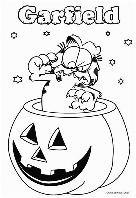 garfield coloring pages halloween printable garfield coloring pages to kids cool2bkids