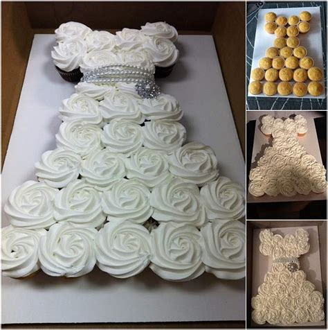 bridal shower cupcakes make an amazing wedding dress cupcake cake for bridal shower