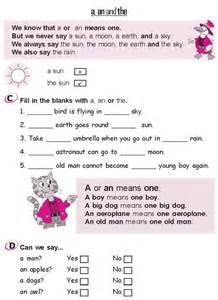 grade 2 grammar lesson 3 articles a an and the 3