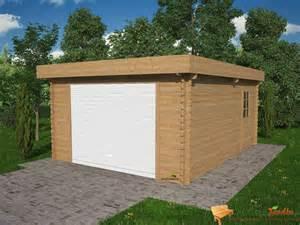 garage voiture bois garage de voiture en bois toit plat kena 21 73m 178 abri