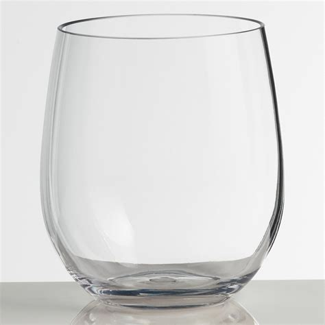 acrylic barware acrylic stemless wine glasses set of 4 world market