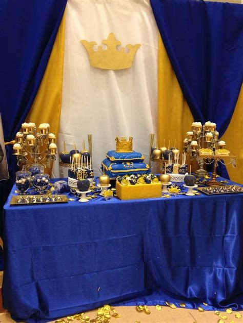 Royal Blue And Gold Baby Shower Decorations by Royal Baby Shower Baby Shower Ideas Shower Baby