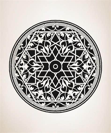 Segi Empat Motif Circle vinyl wall decal sticker arabic circle os aa330