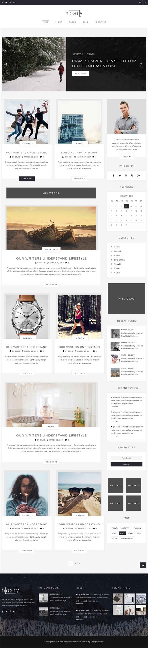 theme blog nulled download hoary minimal blog wordpress theme nulled