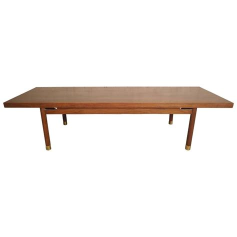 vintage modern walnut coffee table for sale at 1stdibs