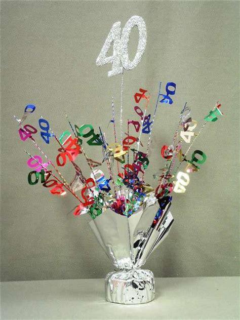 40 Silver Multi Color Spray Centerpiece Bartz S Party Stores Centerpieces For 40th Birthday