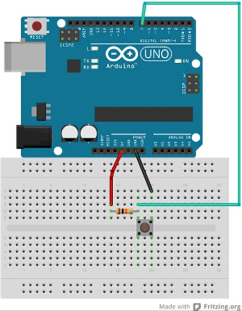 adding pull up resistor to arduino codasign adding the button