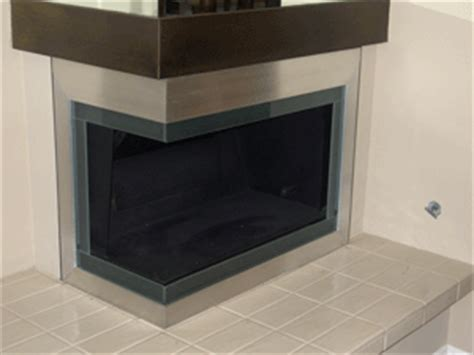 corner fireplaces two sided corner gas fireplace