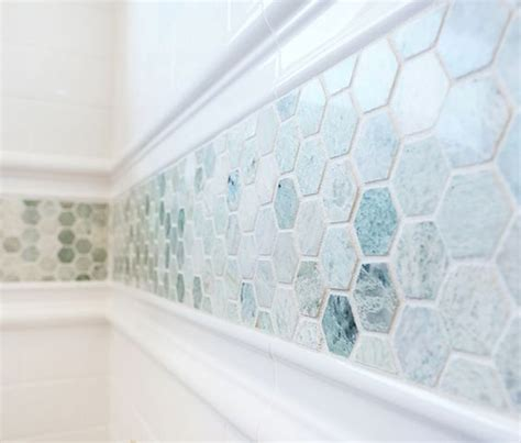 bathroom tiles mosaic border 08 stunning aqua mosaic border tiles digsdigs condo