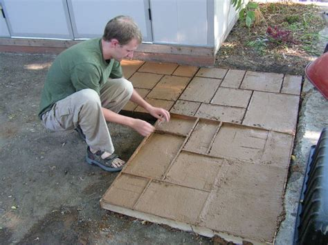 concrete mold patio how to make a cement patio