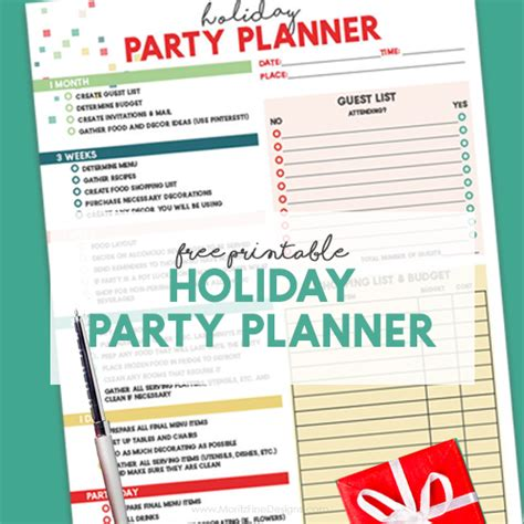 printable christmas party planner christmas archives moritz fine designs