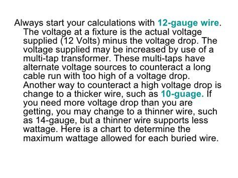 landscape lighting voltage drop formula how to design your 12 volt outdoor lighting