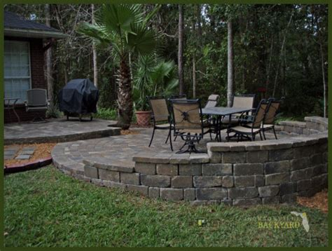 Paver Patio Slope Jacksonville Backyard Hardscapes Landscapes Ecoscapes Jacksonville Project Photos Click To