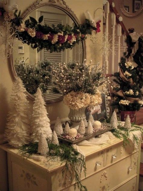 decorating tiny chic tree 8 festive entryways trees shabby chic and pictures