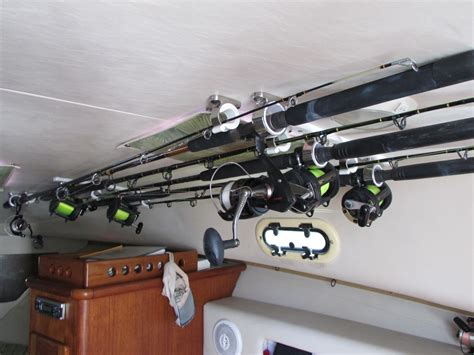 rod holders for ceiling inside cuddy the hull truth - Boat Cabin Rod Holders