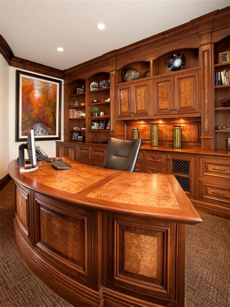 modern executive desk home office traditional with built