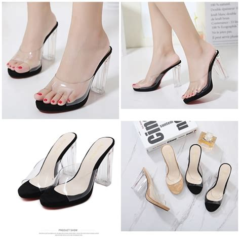 Sepatu Wedges Wanita 10cm On04 jual shh9121 black sepatu heels transparan 10cm