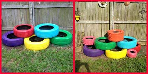 lemon bean and things recycle tire planter 80 00