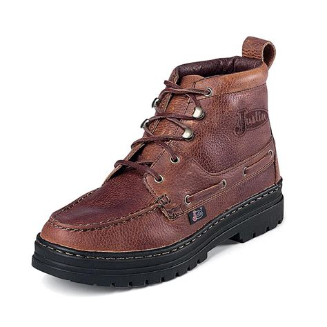 womans work boots justin rustic cowhide chukka womens work boots