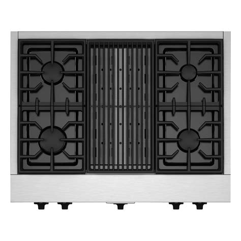 gas cooktop with grill 36 kitchenaid 36 in gas cooktop in stainless steel with