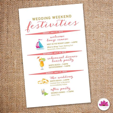 wedding weekend itinerary template destination wedding weekend itinerary wedding day time