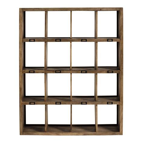 120cm Shelf by Solid Mango Wood Shelf Unit W 120cm Maisons Du Monde