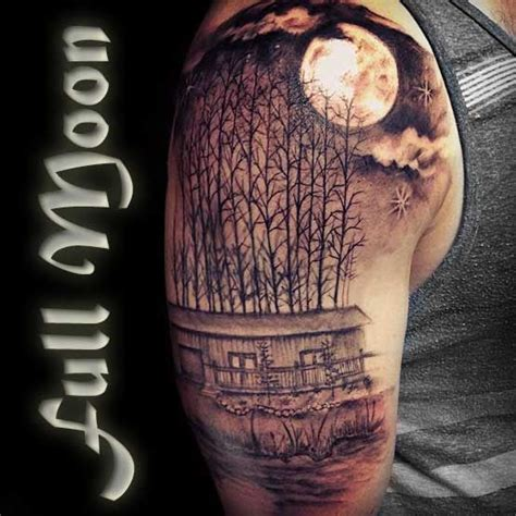 full moon tattoos best 25 moon tattoos ideas on moon