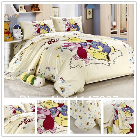 character comforter sets beige winnie the pooh kid child cartoon twin full queen