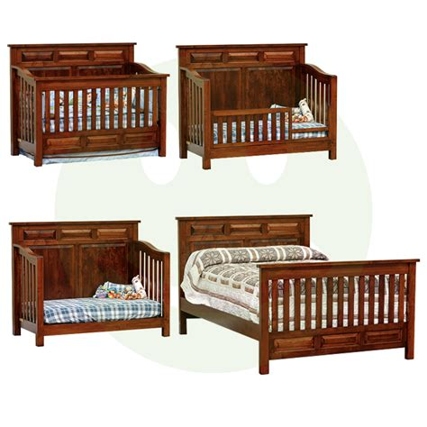 Baby Cribs Made In America Peyton Convertible Baby Crib Made In Usa Solid Wood American Eco Furniture