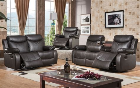 leather sofa set with recliner modern recliner leather sofa set with genuine leather