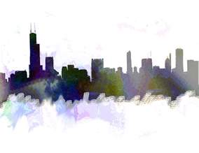 chicago skyline paint color chicago skyline color painting by enki