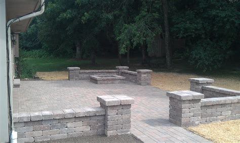 paver patio with retaining wall block walls around patios grading landscaping paver