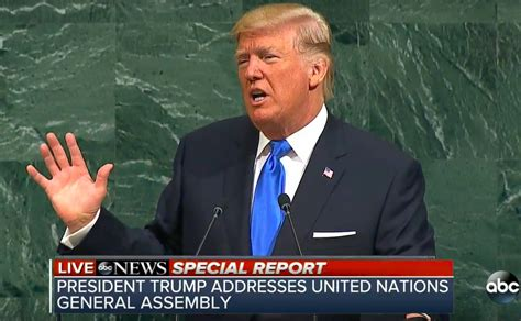donald trump un speech celebrity reactions donald trump u n speech