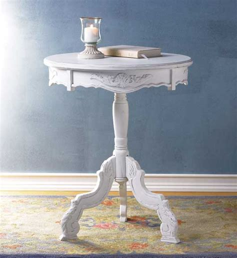 cottage furniture cheap rococo accent table shabby cottage furniture