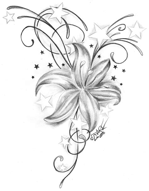 flower and star tattoo designs tattoos and flower fonts designs tattoos