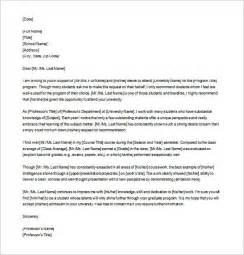 Recommendation Letter Grad School Exle 8 Letters Of Recommendation For Graduate School Free
