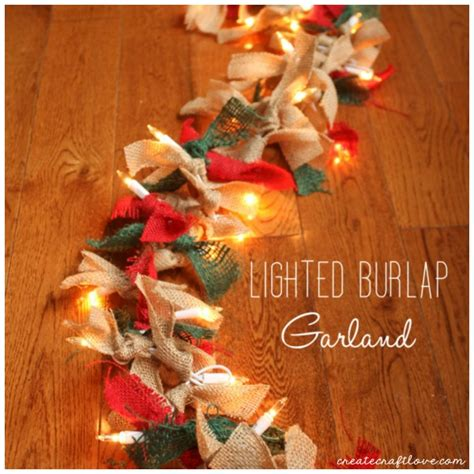 lighted garland for lighted burlap garland for how to