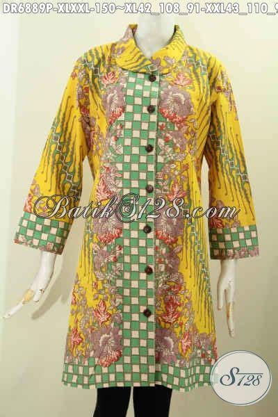contoh desain baju batik yang bagus busana batik berkelas bahan adem motif bagus proses