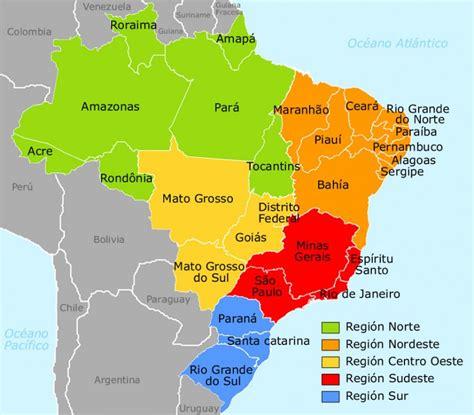 imagenes satelitales brasil mapa do brasil divididos por regi 245 es e estados