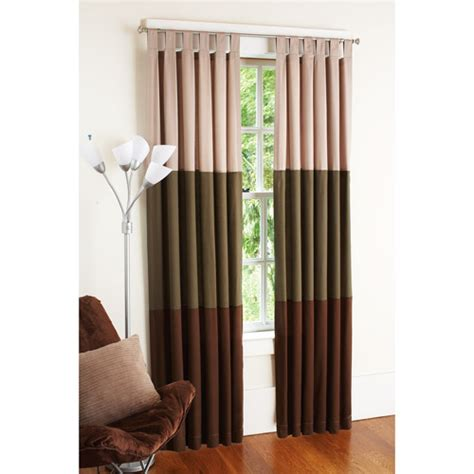 bedroom curtains at walmart your zone chino curtains set of 2 hot chocolate stripe