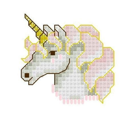 pattern unicorn head unicorn head cross stitch pattern unicorn party