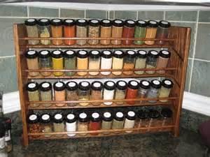 decorative spice rack with jars handmade 48 jar capacity