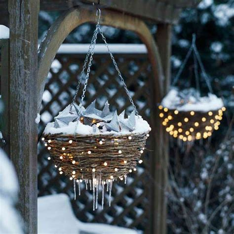 decorating backyard with lights 26 super cool outdoor d 233 cor ideas with christmas lights digsdigs