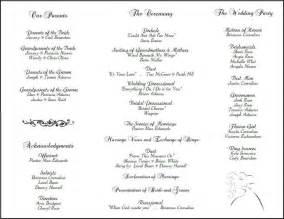 Wedding programs wedding program templates and program template
