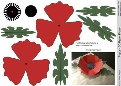 printable paper poppies free poppy paper flower templates paper flowers