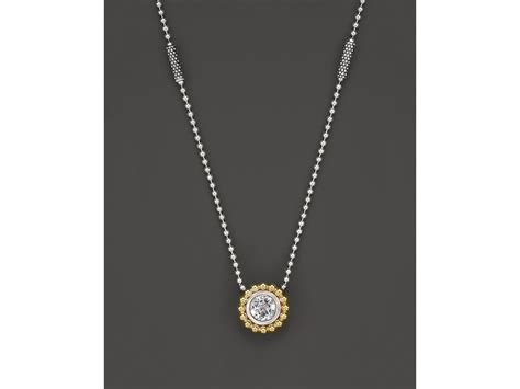 lagos sterling silver and 18k gold pendant necklace with