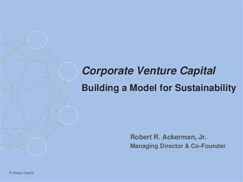 Linkedin Msf Mba Venture Capital by Considerations For A Sustainable Corporate Venture Program