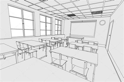 Drawing 1 Class In College by Imagem Dos Desenhos Animados Do Interior Da Sala De Aula