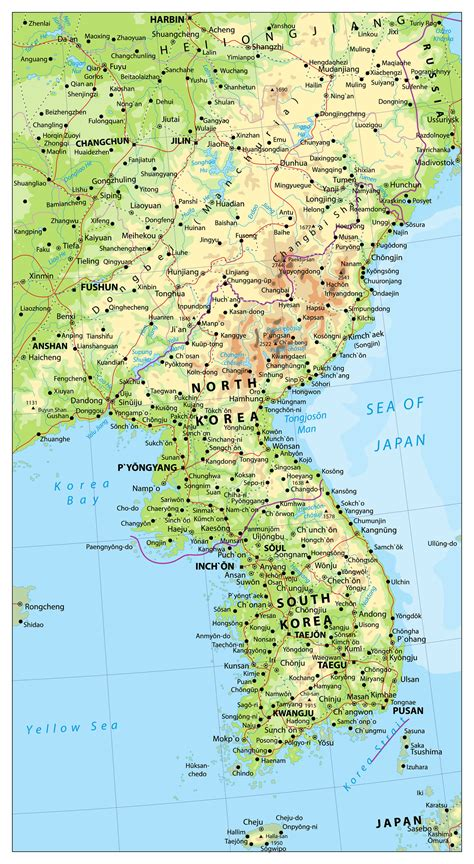 map of korea south korea map guide of the world