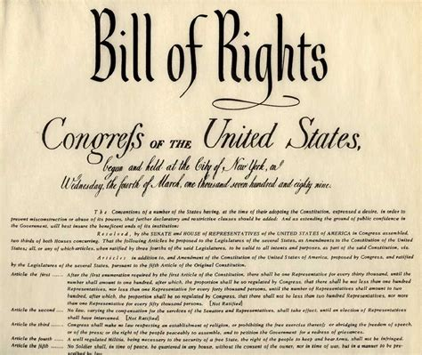 what section of the constitution is the bill of rights the bill of rights the future of the constitution part